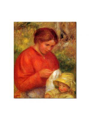 Tablou Arta Clasica Pictor Pierre-Auguste Renoir Woman and child 1900 80 x 90 cm