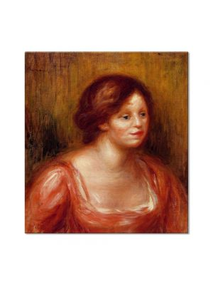 Tablou Arta Clasica Pictor Pierre-Auguste Renoir Bust of a woman in a red blouse 1905 80 x 90 cm