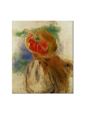 Tablou Arta Clasica Pictor Pierre-Auguste Renoir Young girl in a flowered hat 1905 80 x 90 cm