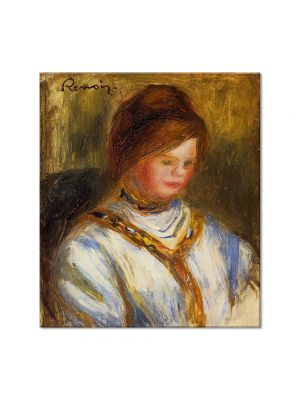 Tablou Arta Clasica Pictor Pierre-Auguste Renoir Woman in a blue blouse 1906 80 x 90 cm