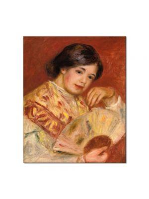 Tablou Arta Clasica Pictor Pierre-Auguste Renoir Woman with a fan 1906 80 x 90 cm