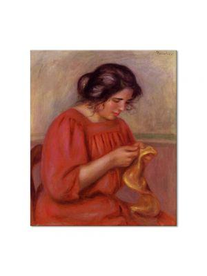 Tablou Arta Clasica Pictor Pierre-Auguste Renoir Gabrielle mending 1908 80 x 90 cm
