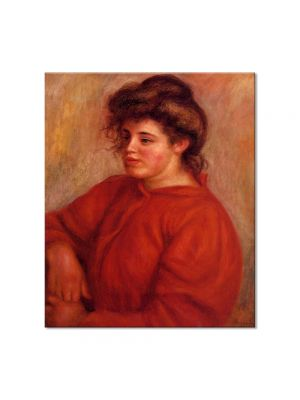 Tablou Arta Clasica Pictor Pierre-Auguste Renoir Woman in a red blouse 1908 80 x 90 cm