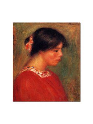 Tablou Arta Clasica Pictor Pierre-Auguste Renoir Head of a woman in red 1909 80 x 90 cm