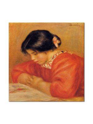 Tablou Arta Clasica Pictor Pierre-Auguste Renoir Leontine reading 1909 80 x 80 cm