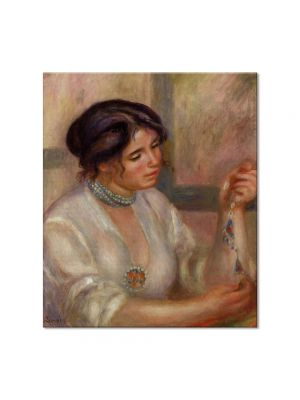 Tablou Arta Clasica Pictor Pierre-Auguste Renoir Woman with a necklace 1910 80 x 90 cm