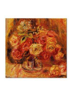 Tablou Arta Clasica Pictor Pierre-Auguste Renoir Roses in a vase 1912 80 x 80 cm