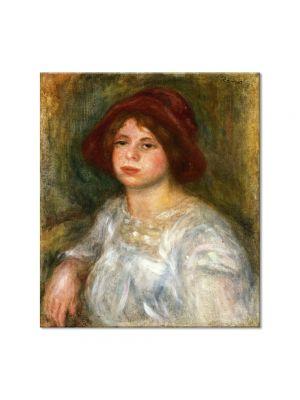 Tablou Arta Clasica Pictor Pierre-Auguste Renoir Girl in a red hat 1913 80 x 90 cm