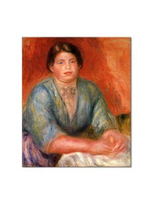 Tablou Arta Clasica Pictor Pierre-Auguste Renoir Seated woman in a blue dress 1915 80 x 90 cm