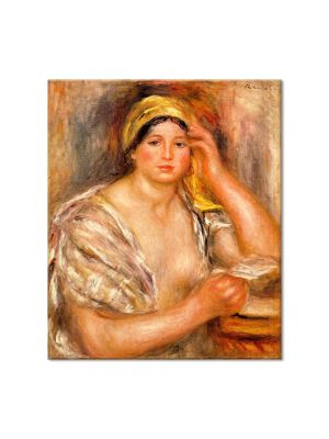 Tablou Arta Clasica Pictor Pierre-Auguste Renoir Woman with a yellow turban 1917 80 x 90 cm