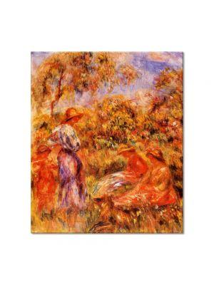 Tablou Arta Clasica Pictor Pierre-Auguste Renoir Three women and child in a landscape 1918 80 x 90 cm