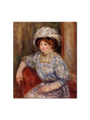 Tablou Arta Clasica Pictor Pierre-Auguste Renoir Woman in blue 1919 80 x 90 cm