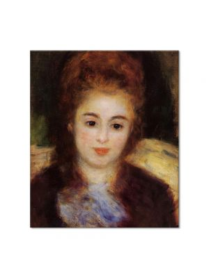 Tablou Arta Clasica Pictor Pierre-Auguste Renoir Head of a young woman wearing a blue scarf Madame Henriot 1876 80 x 90 cm
