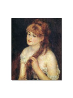 Tablou Arta Clasica Pictor Pierre-Auguste Renoir Young woman braiding her hair 1876 80 x 90 cm