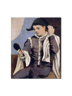 Tablou Arta Clasica Pictor Pablo Picasso Harlequin with a Mirror 1923 80 x 90 cm