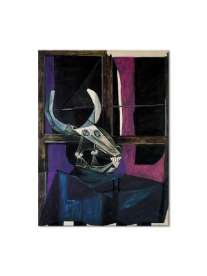 Tablou Arta Clasica Pictor Pablo Picasso Still life with skull of ox 1942 80 x 100 cm