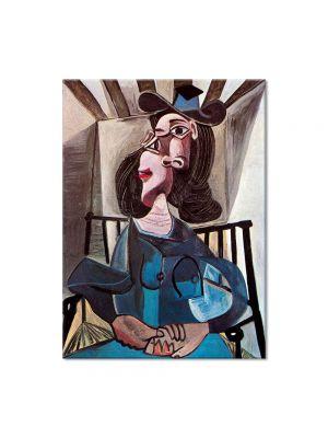Tablou Arta Clasica Pictor Pablo Picasso Girl in chair 1952 80 x 100 cm