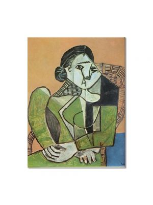 Tablou Arta Clasica Pictor Pablo Picasso Woman sitting in an armchair 1953 80 x 100 cm