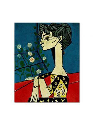 Tablou Arta Clasica Pictor Pablo Picasso Jacqueline with flowers 1954 80 x 90 cm