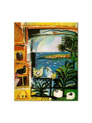 Tablou Arta Clasica Pictor Pablo Picasso Studio. Pigeons. Velazquez. 1958 80 x 90 cm