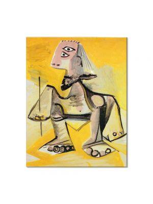 Tablou Arta Clasica Pictor Pablo Picasso Crouching man 1971 80 x 100 cm