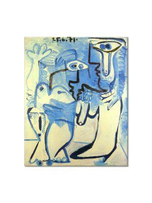 Tablou Arta Clasica Pictor Pablo Picasso Man and Woman 1971 80 x 100 cm