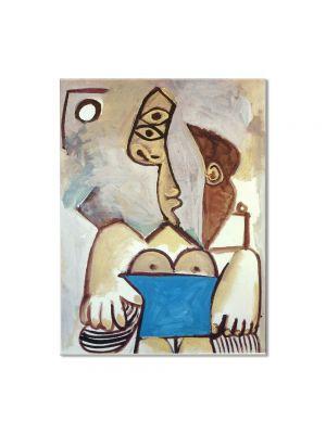Tablou Arta Clasica Pictor Pablo Picasso Seated woman, Jacqueline 1971 80 x 100 cm