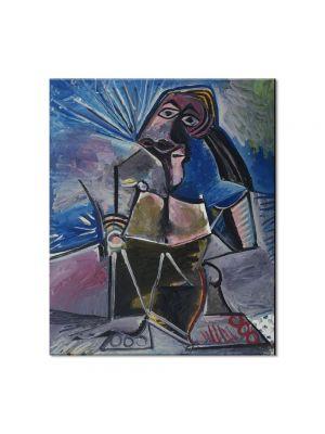 Tablou Arta Clasica Pictor Pablo Picasso At Work 1971 80 x 90 cm