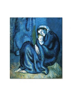 Tablou Arta Clasica Pictor Pablo Picasso Mother and child 1902 80 x 90 cm