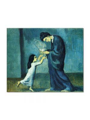 Tablou Arta Clasica Pictor Pablo Picasso The soup 1903 80 x 100 cm