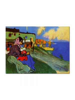 Tablou Arta Clasica Pictor Pablo Picasso Gypsy in front of Musca 1900 80 x 110 cm