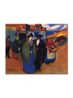 Tablou Arta Clasica Pictor Pablo Picasso A spanish couple in front of inn 1900 80 x 100 cm