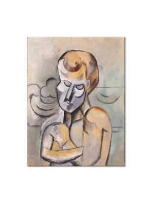 Tablou Arta Clasica Pictor Pablo Picasso Man with his Arms Crossed 1909 80 x 100 cm