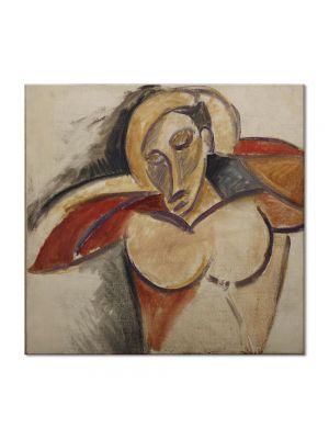 Tablou Arta Clasica Pictor Pablo Picasso Bust 1907-1908 80 x  80 cm