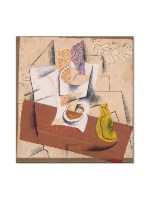Tablou Arta Clasica Pictor Pablo Picasso Composition with a Sliced Pear 1914 80 x 90 cm