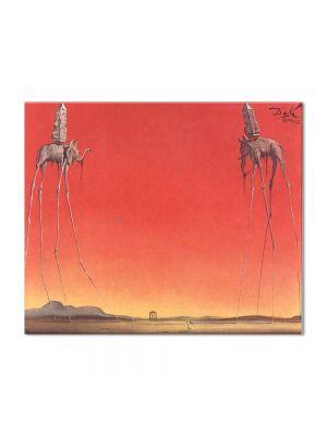 Tablou Arta Clasica Pictor Salvador Dali The Elephants. Large 1948 80 x 100 cm