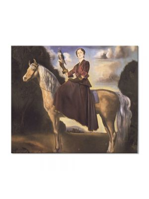 Tablou Arta Clasica Pictor Salvador Dali Equestrian Fantasy Portrait of Lady Dunn 1954 80 x 100 cm
