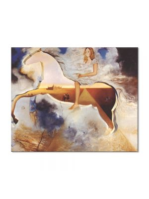 Tablou Arta Clasica Pictor Salvador Dali Equestrian Portrait of Carmen Bordiu-Franco 1974 80 x 100 cm