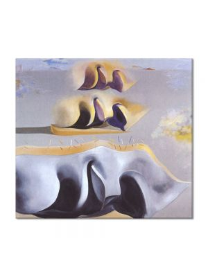 Tablou Arta Clasica Pictor Salvador Dali The Three Glorious Enigmas of Gala,second version 1982 80 x 90 cm