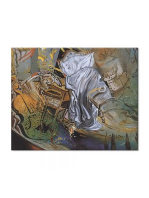Tablou Arta Clasica Pictor Salvador Dali Bed and Two Bedside Tables Ferociously Attacking a Cello. Final Stage 1983 80 x 100 cm