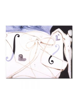 Tablou Arta Clasica Pictor Salvador Dali Cutlet and Match. The Chinese Crab 1983 80 x 100 cm