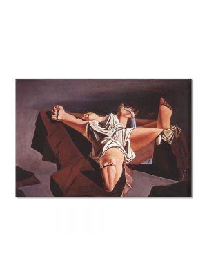 Tablou Arta Clasica Pictor Salvador Dali Figure on the Rocks 1926 80 x 120 cm
