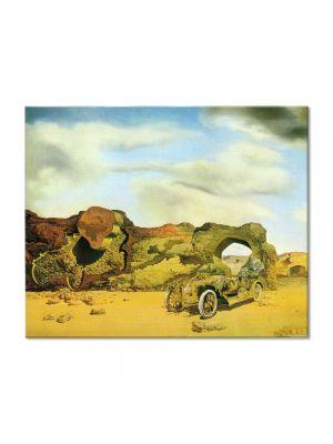 Tablou Arta Clasica Pictor Salvador Dali Paranoiac Critical Solitude 1935 80 x 100 cm