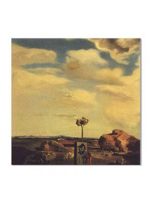 Tablou Arta Clasica Pictor Salvador Dali Puzzle of Autumn 1935 80 x  80 cm