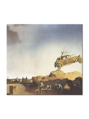 Tablou Arta Clasica Pictor Salvador Dali Apparition of the Town of Delft 1936 80 x 90 cm
