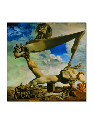 Tablou Arta Clasica Pictor Salvador Dali Soft Construction with Boiled Beans: Premonition of Civil War 1936 80 x  80 cm