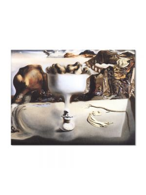 Tablou Arta Clasica Pictor Salvador Dali Apparition of Face and Fruit Dish on a Beach 1938 80 x 100 cm