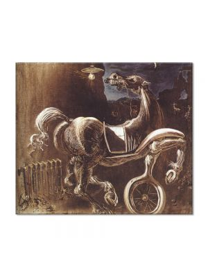 Tablou Arta Clasica Pictor Salvador Dali Debris of an Automobile Giving Birth to a Blind Horse Biting a Telephone 1938 80 x 90 cm
