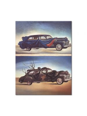Tablou Arta Clasica Pictor Salvador Dali Car Clothing. Clothed Automobile 1941 80 x 100 cm