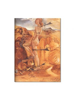 Tablou Arta Clasica Pictor Salvador Dali Costume for a Nude with a Codfish Tail 1941 80 x 100 cm